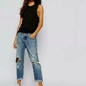 Levi's 501 CT crop destroy 30 jeans